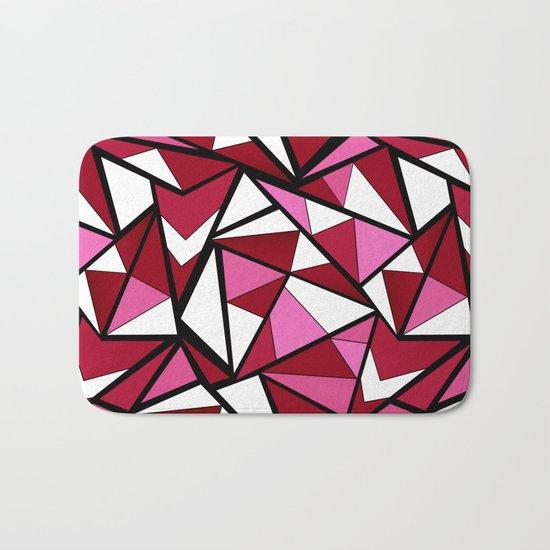 Abstract geometric triangles pattern . 6 Bath Mat