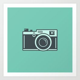 Camera Illustration Art Print