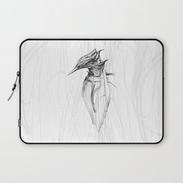 Kingfisher 1a. Black on white background-(Red eyes series) Laptop Sleeve
