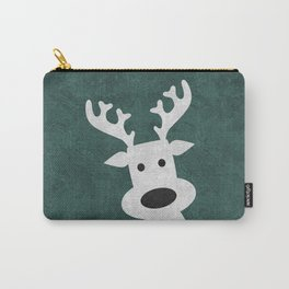 Christmas reindeer marble Carry-All Pouch