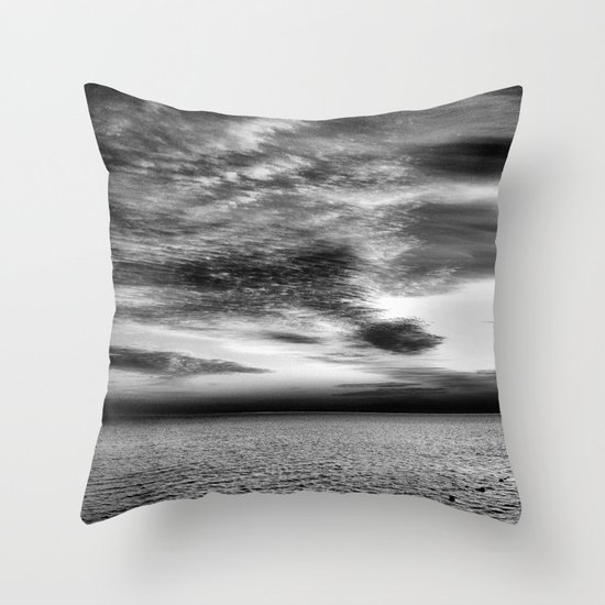 Sharm Sunrise BW Throw Pillow
