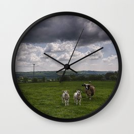 Sheep In The Stour Valley Wall Clock