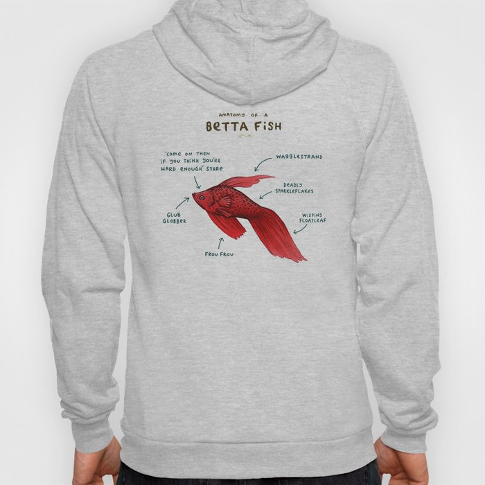 Anatomy of a Betta Fish Hoody by sophiecorrigan | Society6