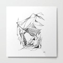Mount Baker River Bends Metal Print