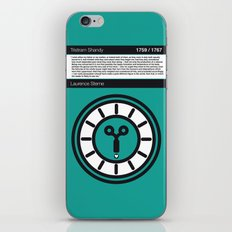 No019 MY Tristram Shandy Book Icon poster iPhone & iPod Skin
