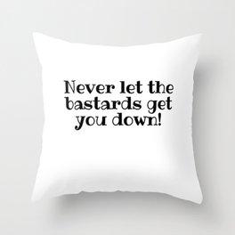 Get You Down Throw Pillow