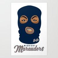Midnight Marauder$ - Beasts of the East Print Art Print