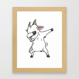 Funny Goat Dabbing Framed Art Print