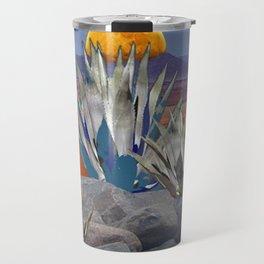 DESERT MOON AGAVE  LANDSCAPE CACTUS ART Travel Mug