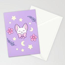 Sakura Cat // Purple Stationery Cards