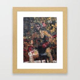 Seated Fighter Framed Art Print
