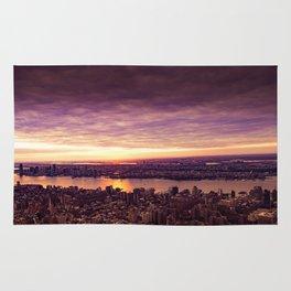purple sunset New York Rug