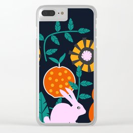 Music and a little rabbit Clear iPhone Case