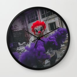 Halloween Scary Clown (Color) Wall Clock