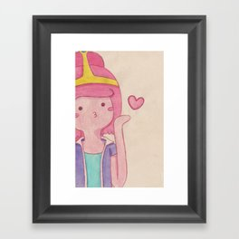 blow kiss Framed Art Print