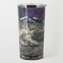 Winter Auroras - mountain range Travel Mug