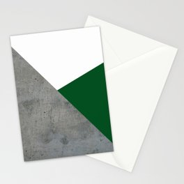 Concrete Festive Green White Stationery Cards