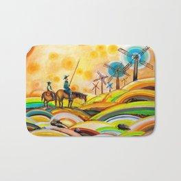 Don Quixote de La Mancha and Sancho Panza Bath Mat
