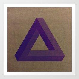 Purple Penrose Art Print