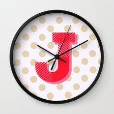 J is for Joy Wall Clock