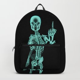 X-ray Bird / X-rayed skeleton demonstrating international hand gesture Backpack