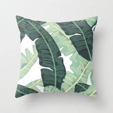 Banana Leaf Throw Pillow