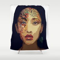 pocahontas Shower Curtains featuring Pocahontas by FannikaRial