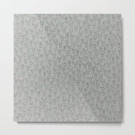 Bunny Pile Metal Print