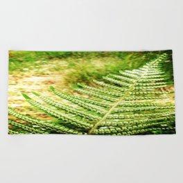 Green Fern Beach Towel