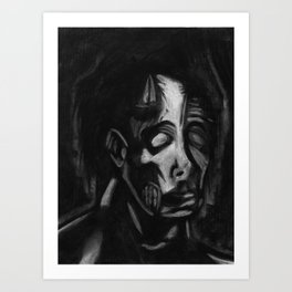 Drained Face Art Print