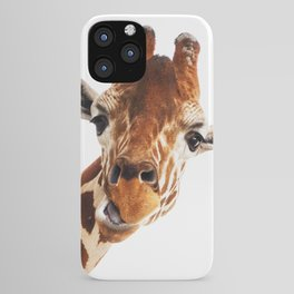 Giraffe Portrait // Wild Animal Cute Zoo Safari Madagascar Wildlife Nursery Decor Ideas iPhone Case