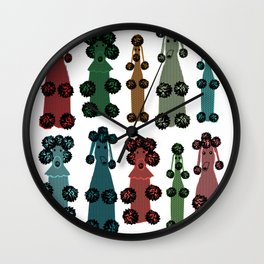 The Crocheted Poodles Wall Clock