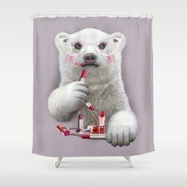 PAULA LIPSTICK Shower Curtain