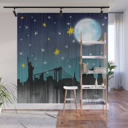 Starry Night Over Manhattan Wall Mural