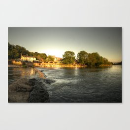 Mill on the Exe  Canvas Print