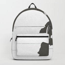 New Jersey is Home - Charcoal on White Wood Backpack