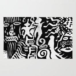 painting remix white Rug