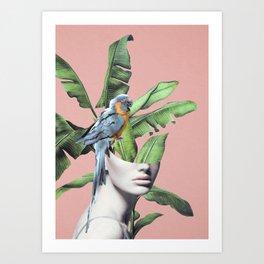 Tropical Girl  2 Art Print