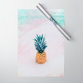 Pineapple on the beach Wrapping Paper