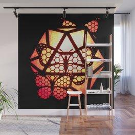 Burning Butterfly Lantern  Wall Mural