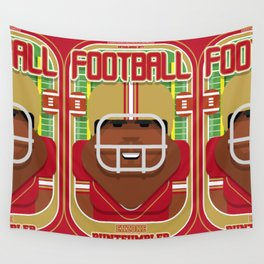 American Football Red and Gold - Enzone Puntfumbler - Hayes version Wall Tapestry