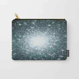 Ash Naples Blue Teal Galaxy Sparkle Stars Carry-All Pouch