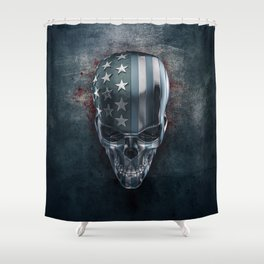 American Horror in Metal Shower Curtain
