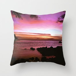 Kona Hawaii Sunset Throw Pillow