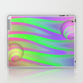 Colors swimming on grey Laptop & iPad Skin