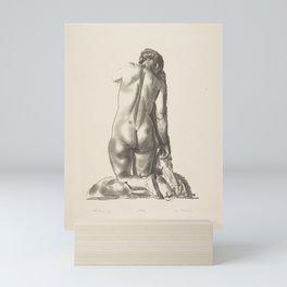 Nude Study, Woman Kneeling on a Pillow, 1923 Mini Art Print
