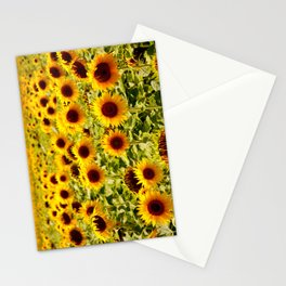 Sunflowers - Loire Valley, France Stationery Cards