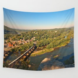 Harpers Ferry & Potomac River Overlook Wall Tapestry