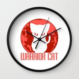 Karate Martial Arts Fencer Ninja Warrior JiuJitsu Fencing Taekwando Fighter Cat Feline T-shirt Wall Clock