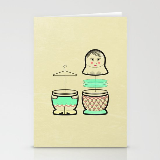 The mermaid who was tired of her tail ... Stationery Cards